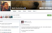 Zuckerberg Wall post demonstration