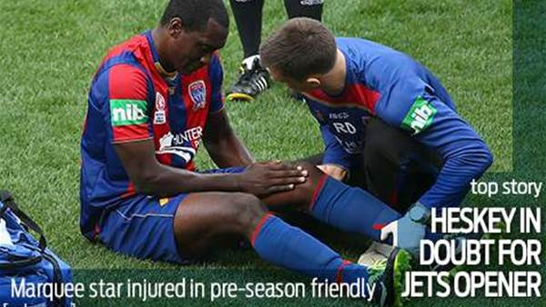 Injury blow for Heskey