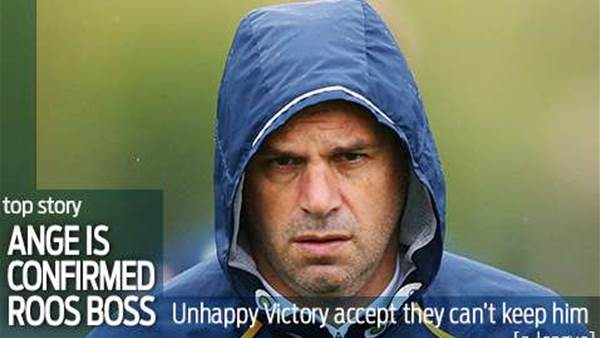 Victory: We won't stand in Ange's way...
