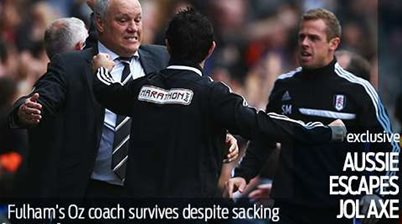 Aussie stays at Fulham after Jol exit