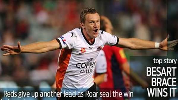Besart brace buries Adelaide United