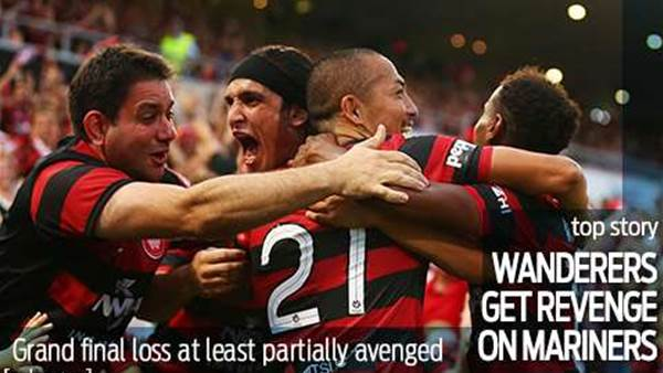 Wanderers get some revenge on Mariners