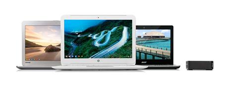 New Google Chromebook range. Source: Google