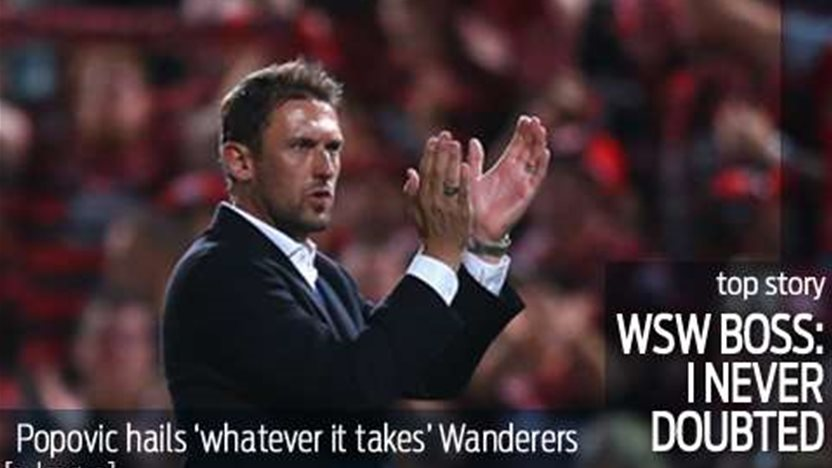 Popovic hails 'whatever it takes' Wanderers