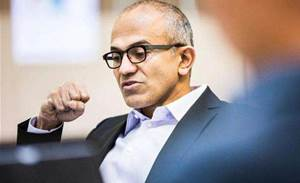 Nadella's first big task: touting new Surface tablets