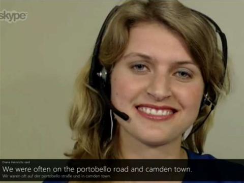 Microsoft demos Skype instant translator