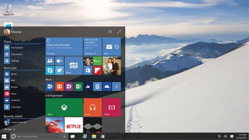 Microsoft pushes Windows 10 to enterprise with major update