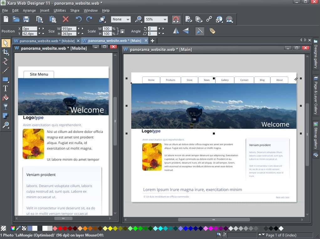 Xara Web Designer 11 debuts online editing