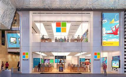 Microsoft's rendering of the Sydney Westfield store. Click to expand
