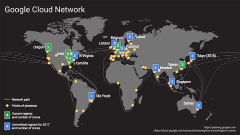 Google opens cloud platform in Sydney