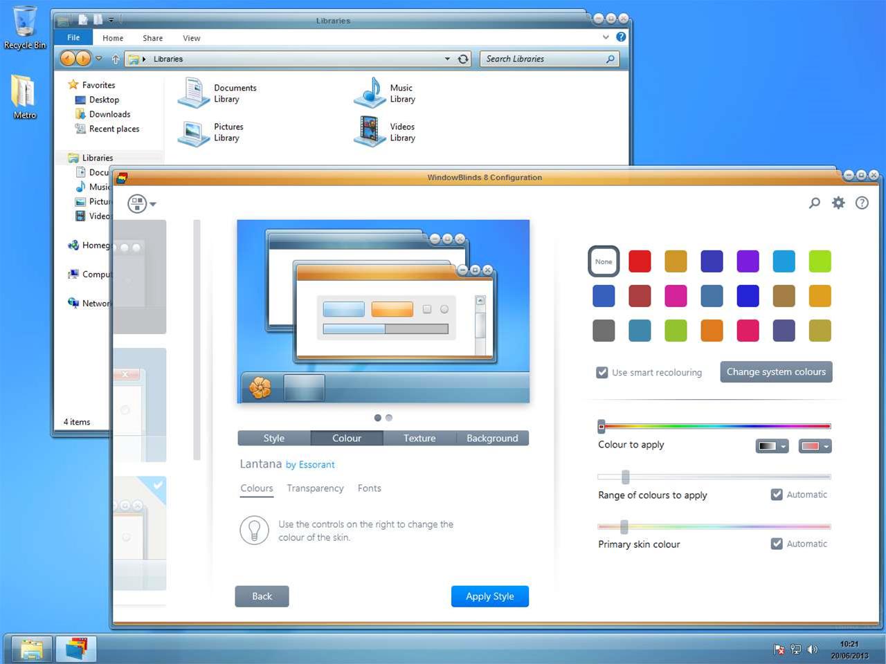 WindowBlinds 10.5 adds universal app skinning