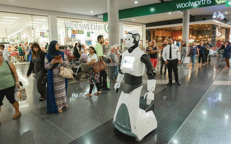 'Chip' robot greets customers in Sydney shopping centre