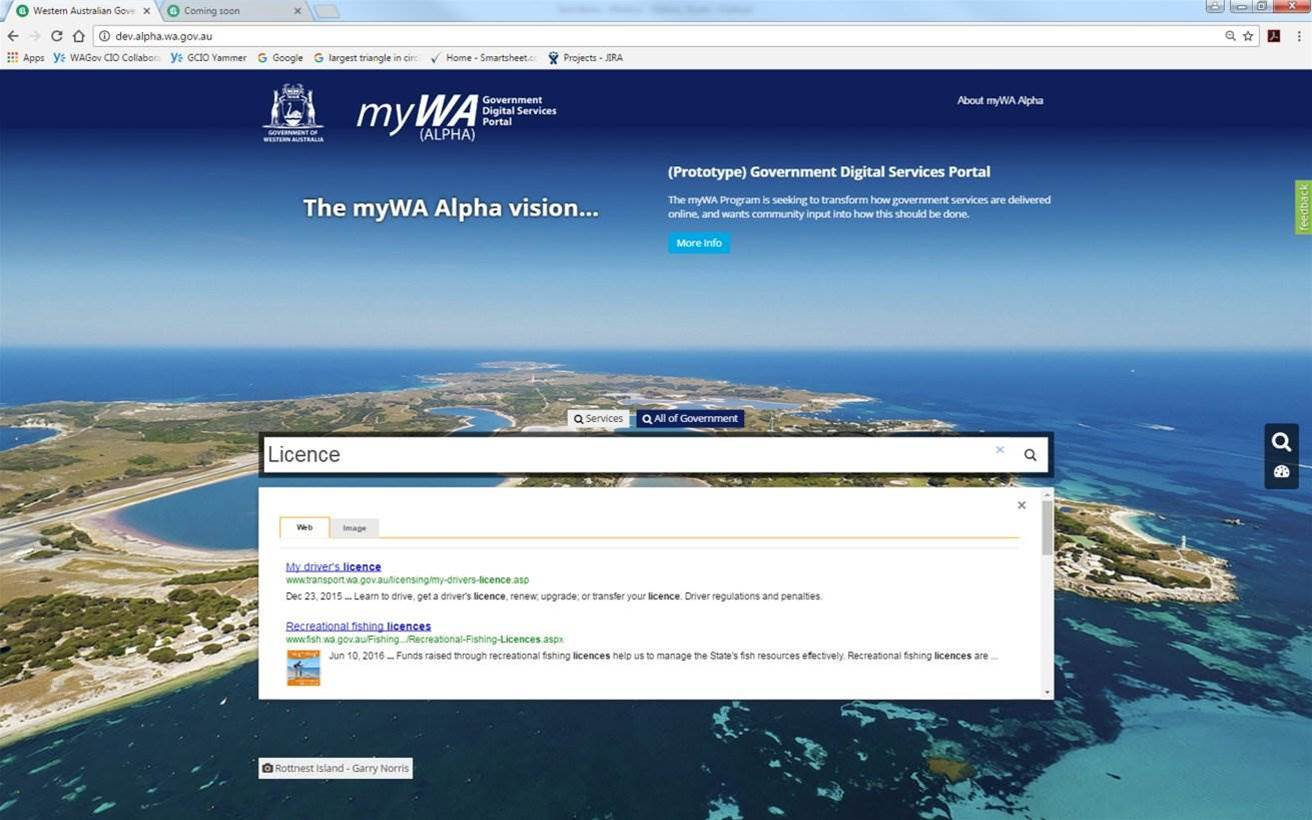 WA reveals bare-bones alpha of its answer to myGov