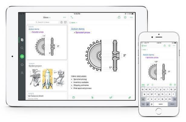 Evernote app gets a major makeover