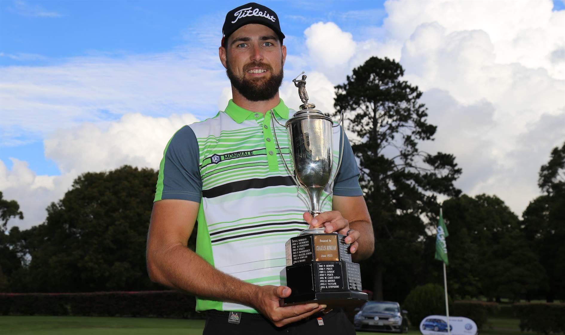 QLD PGA: Pearce wins despite blowing eight-shot lead