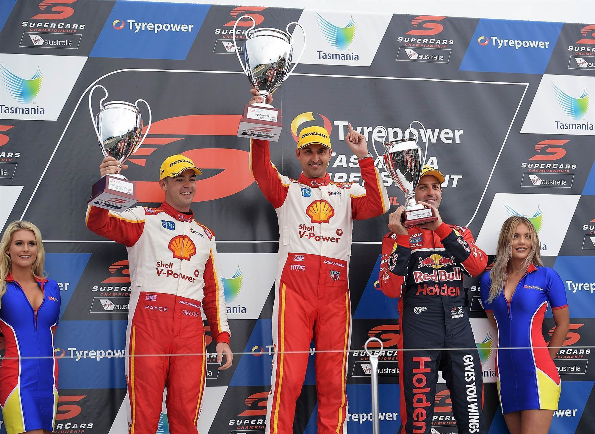 Coulthard claims wet and wild Symmons Supercars