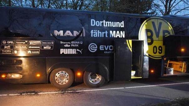 Team bus targeted in bomb attack