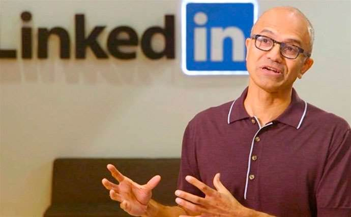 Microsoft's Satya Nadella bets on LinkedIn data to challenge Salesforce