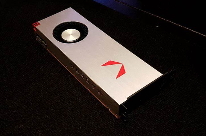 This is what AMD's Radeon RX Vega video card looks like