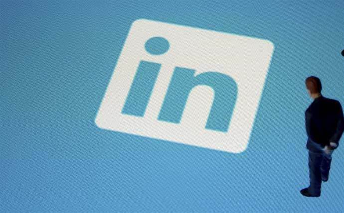 Which Aussie tech leaders were among LinkedIn's top users?