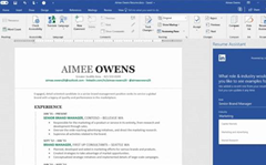 Office 365 gets LinkedIn Resume Assistant