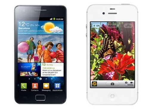 Battle of the super phones: iPhone 4S vs Samsung Galaxy S II