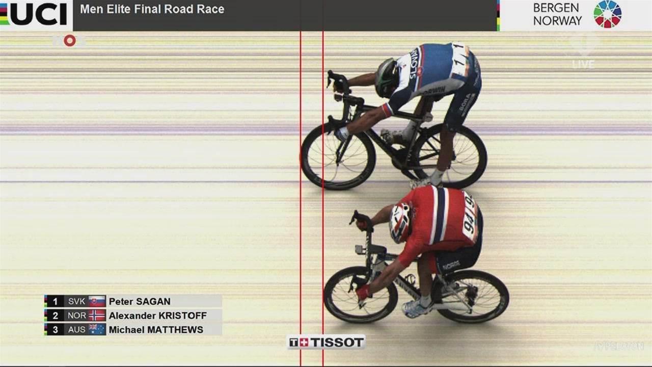 World Champs: Sagan completes amazing hat-trick as Aussie Matthews takes bronze