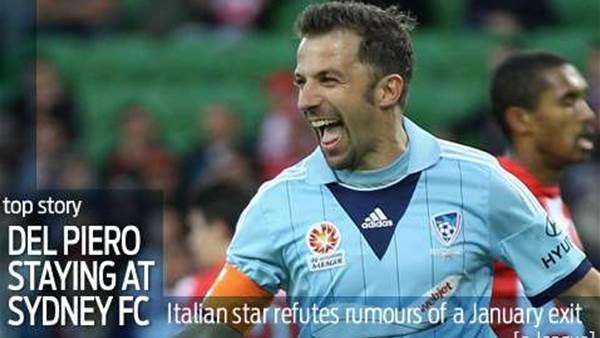 Del Piero debunks January exit rumours
