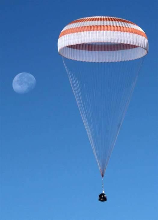 Russian Soyuz Spacecraft Lands Safely in Kazakhstan, Three Astronauts in Tow