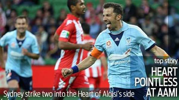 Slick Sydney compound Aloisi's Heartbreak