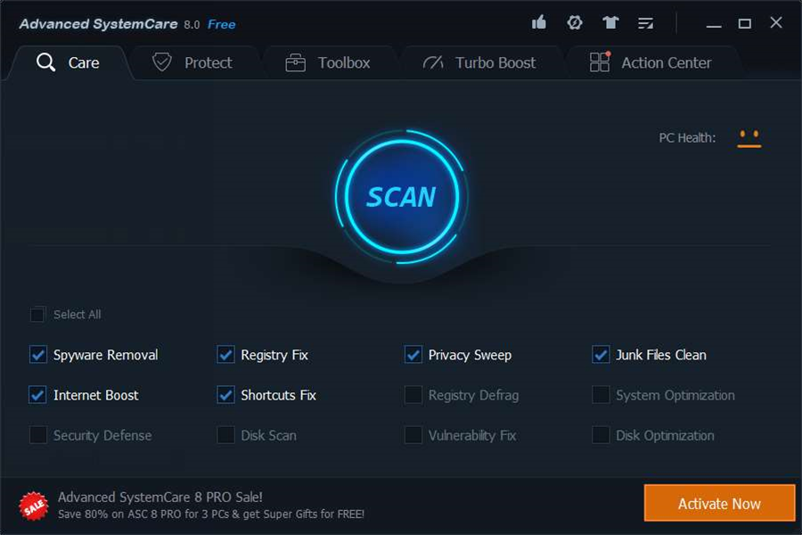 Advanced SystemCare 8 ramps up security tools