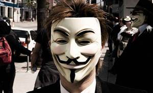 Anonymous attacks, defaces security firm website