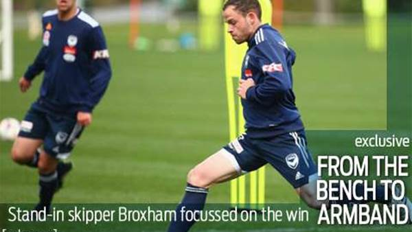 Broxham to lead Victory in Melbourne derby