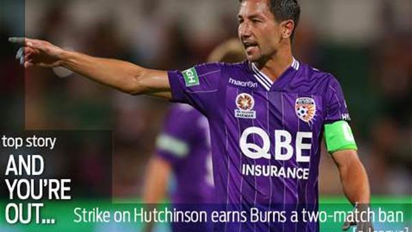 Jacob Burns slapped with two-match ban