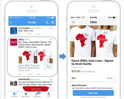 Twitter introduces a 'buy' button to tweets