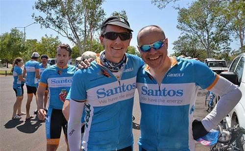 Gary Denman, McAfee (right) during 2016 ride