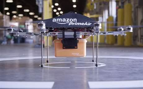 Amazon tests remote drones for deliveries