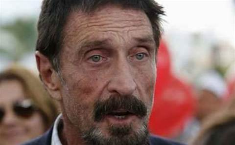 John McAfee makes suprise website launch at hacker conference