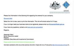 Fake ASIC emails target business owners