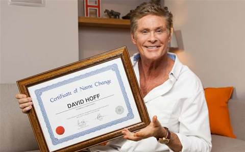 David Hasselhoff changes name for Optus reseller
