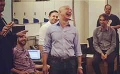 Amazon founder Jeff Bezos charms AWS staff in Sydney