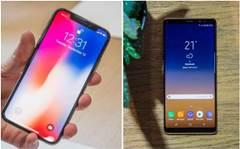 Samsung Galaxy Note 8 vs iPhone X