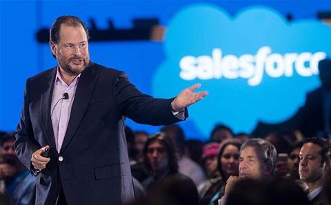 Salesforce boss Benioff introduces more customisation and data science powering products