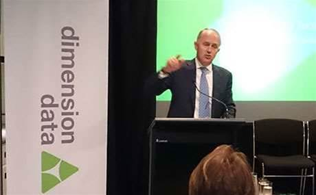 Malcolm Turnbull launches Dimension Data ACT data centre