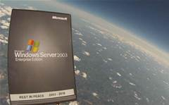 Microsoft reseller launches Windows 2003 into space