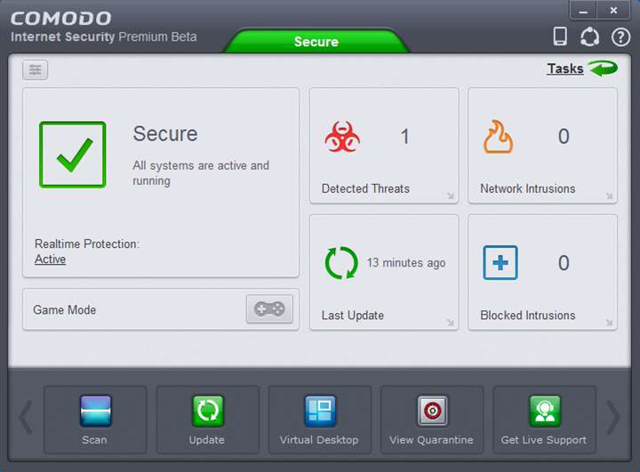 Comodo Internet Security 7 beta: web filtering and Viruscope added