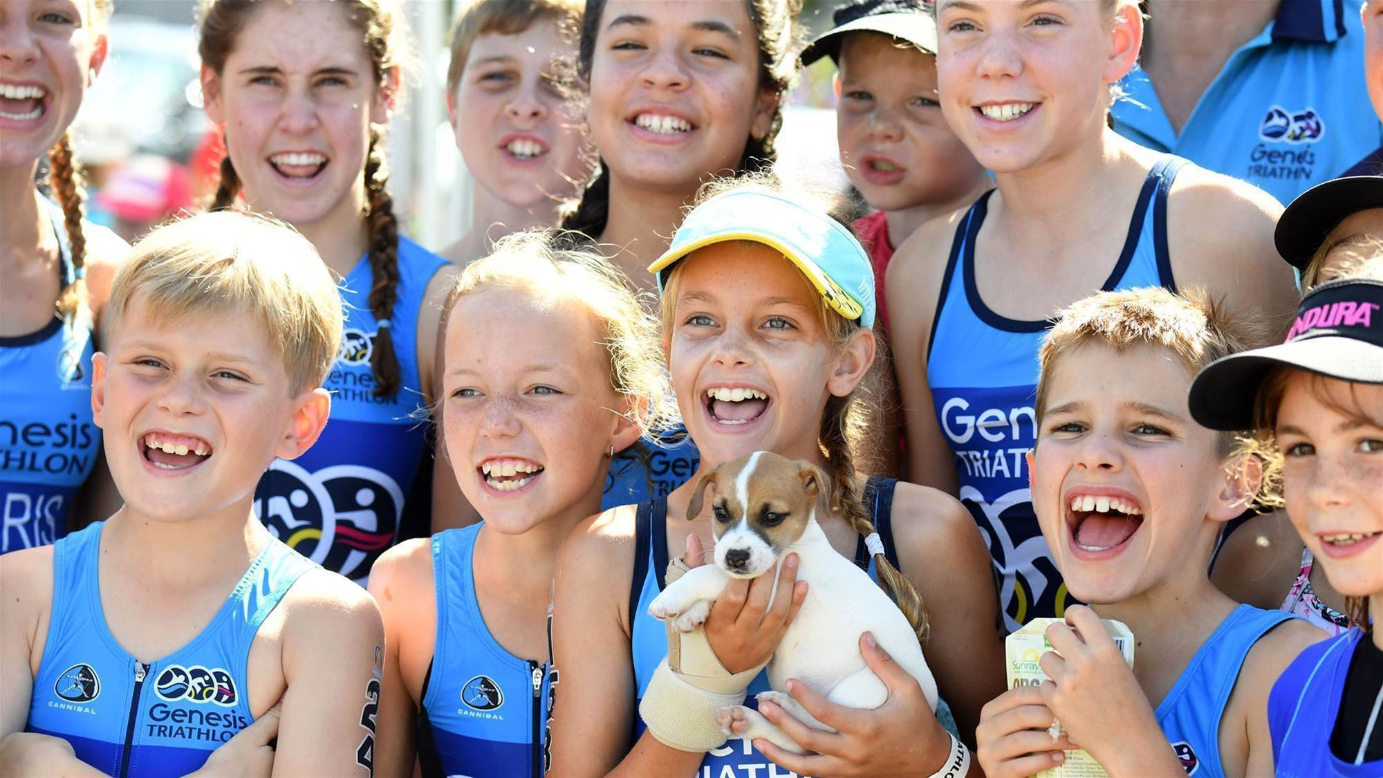 Schoolkids tri in record numbers