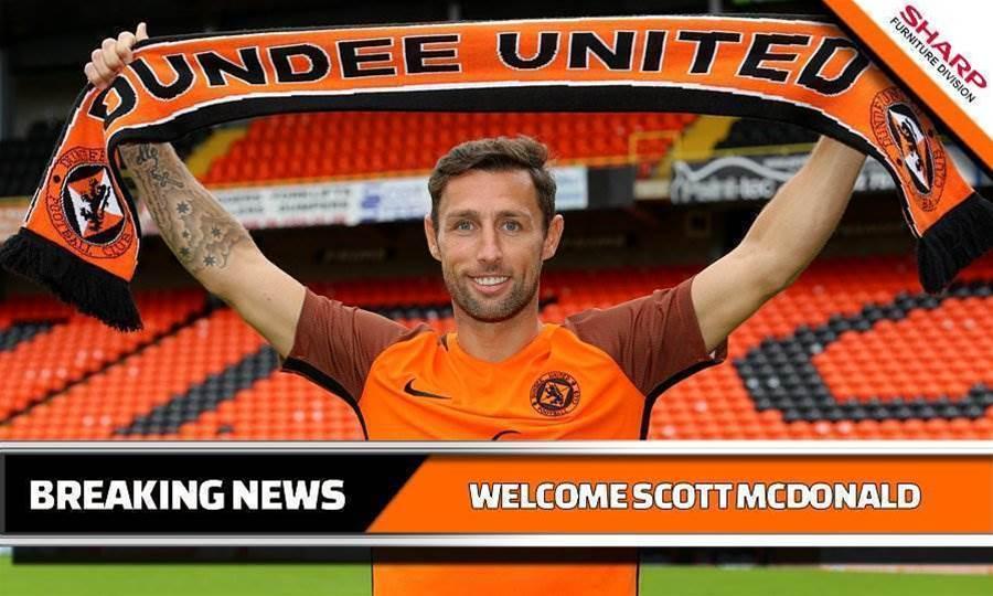 Scott McDonald joins Dundee United