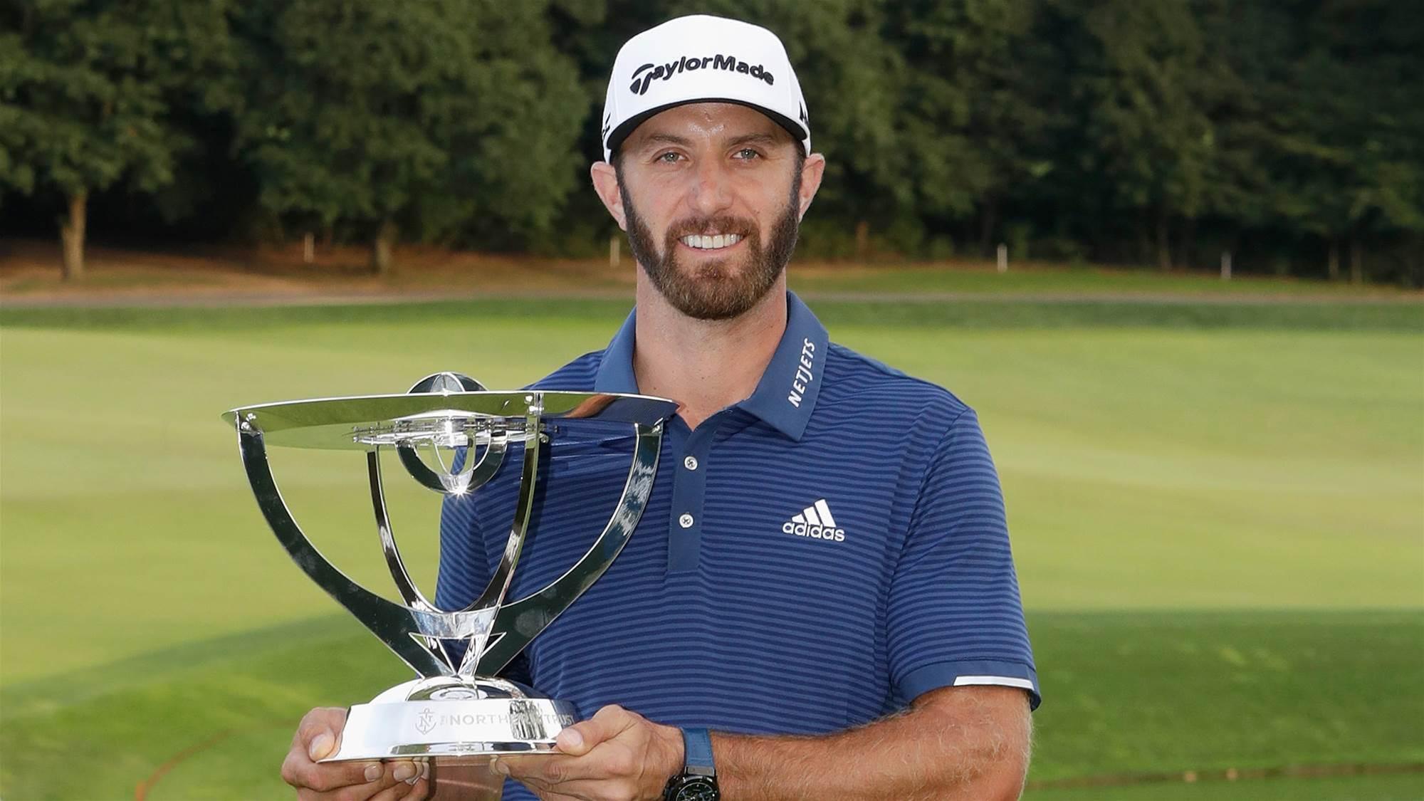 PGA TOUR: Johnson back on top
