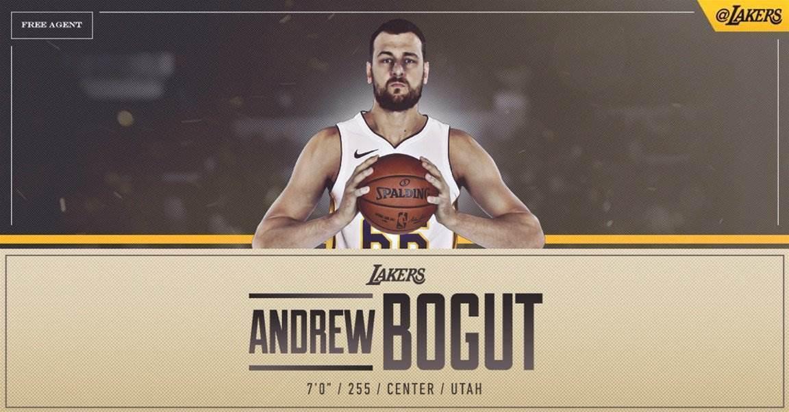 Andrew Bogut signs for LA Lakers